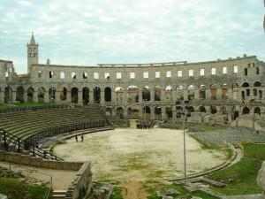 Die Arena in Pula Kroatien